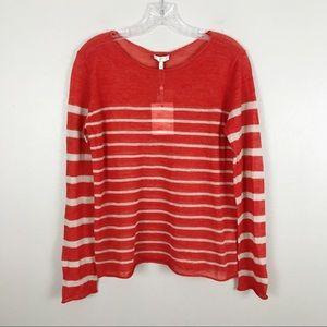 NEW Joie 100% Alpaca Stripe Thin Knit Sweater M